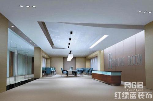 办公室前厅效果图_办公室前厅设计方案赏析--北京红绿